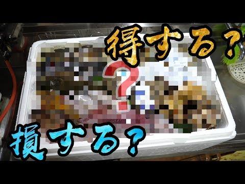 ネットで売ってた2万5千円の『海鮮BOX』に入ってる高級鮮魚とは!!!!