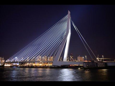 ILLUMINATION OF THE ERASMUS BRIDGE IN ROTTERDAM