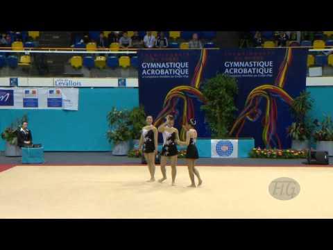 HONG KONG, Women's Groups - Balance Qualifications  -- 2014 Acrobatic Worlds, Levallois-Paris (FRA)