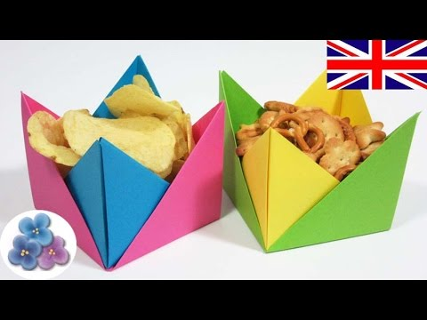 Easy Origami Candy Box Instructions - Paper Kawaii | 360x480