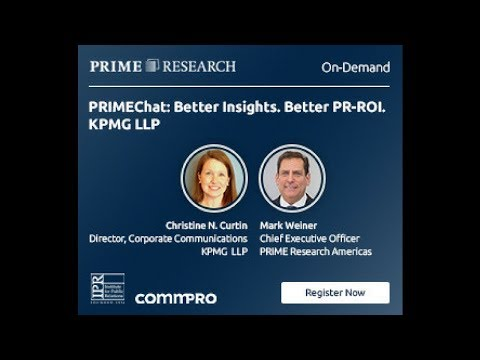 Onstream: PRIMEChat: Better Insights. Better PR-ROI. - KPMG LLP