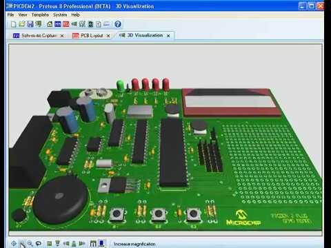 Proteus 8 PCB Design 3D Visualisation - YouTube