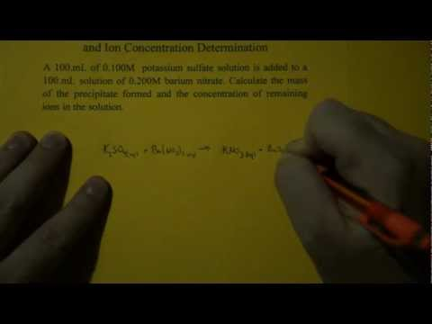 How do you calculate concentration of ions in a solution? | Socratic
