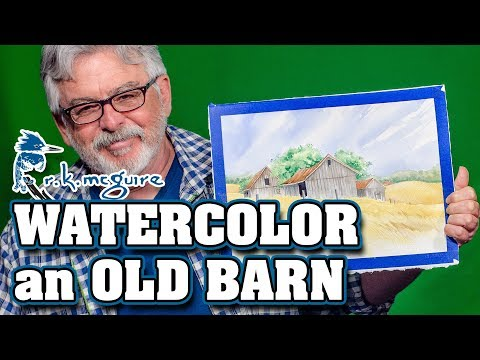 Painting an Old Farm's Barn | How to Watercolor Lessons | R K McGuire
