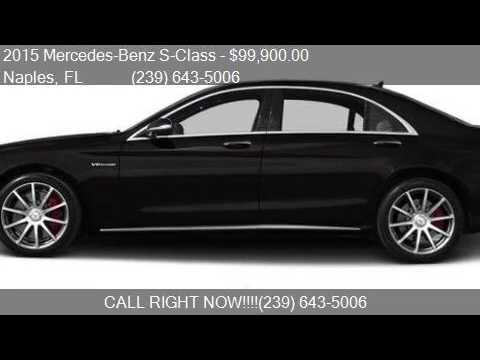 2015 mercedes benz s class s 63 amg awd 4matic 4dr sedan for - 2015 Mercedes S Class White