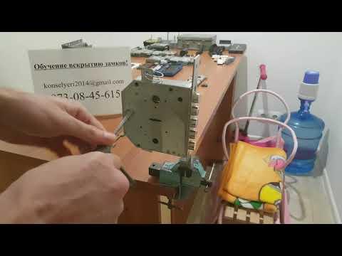 Самоимпрессия Эльбор   Вскрытие замка Эльбор (6+6) с ложными пазами с помощью самоимпрессии