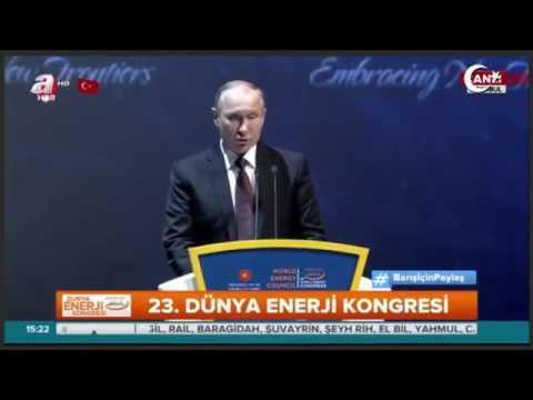 Erdoğan, Putin ve Aliyev İstanbul'da Enerji Zirvesi.. Konuşmaları ardından aile fotoğrafı