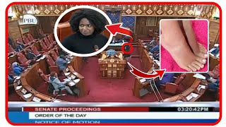 DRAMA AS A FEMALE SENATOR SEEN WITHOUT SHOES 🔥MALE SENATORS CRACK JOKES ON HER🔥