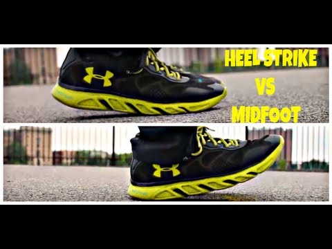 Running Form For Beginners Heel Strike Versus Midfoot  Youtube