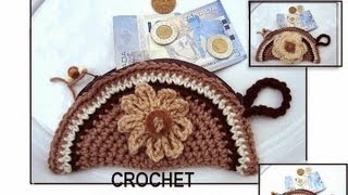 HOW TO CROCHET A MONEY POUCH, coin purse , any size