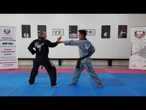 Self defense techniques (Blue Belt Punching) Phoenix Blackbelt Academy- Dubai