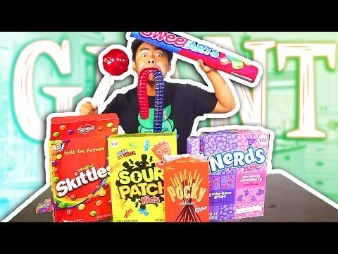 Thumbnail: GIANT CANDY VS NORMAL SIZED CANDY!