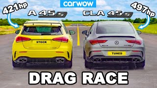 AMG A45 v Tuned CLA 45: DRAG RACE *Shock Result*