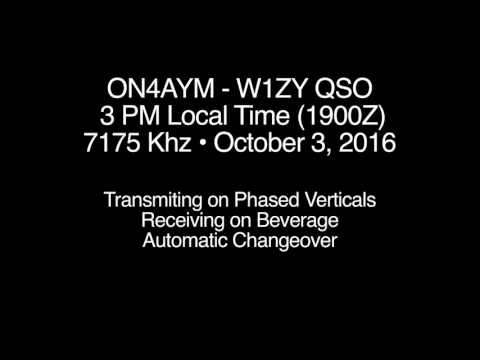 3 PM QSO with Europe: Beverage Antenna Experiments