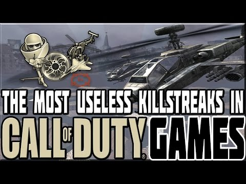 MOST USELESS KILLSTREAKS IN CALL OF DUTY GAMES!
