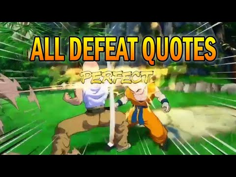 Dragon Ball FighterZ All Defeat Quotes and Knockout Screams (English) |