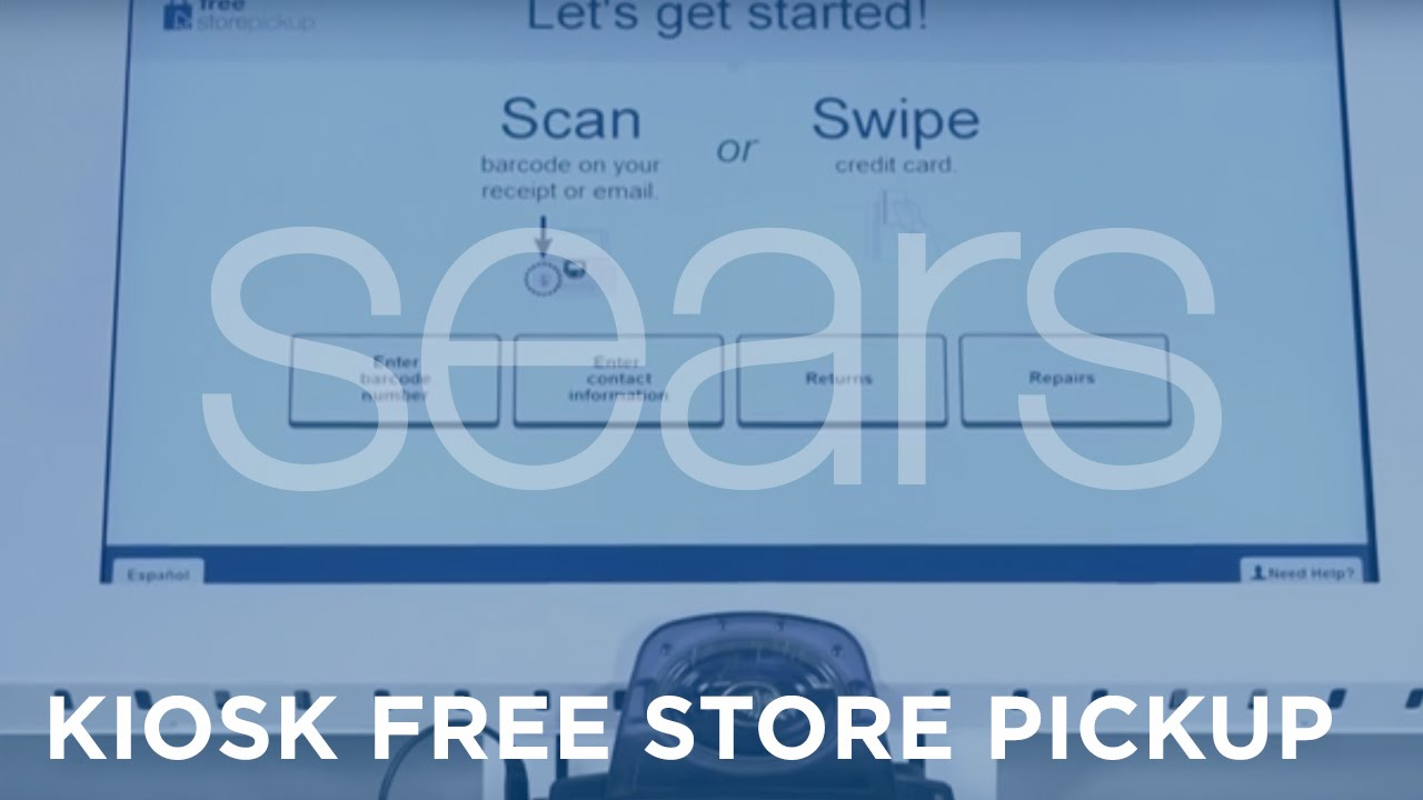 Sears - Kiosk Free Store Pickup - YouTube