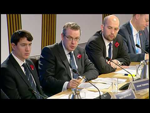 Social Security Committee - Scottish Parliament: 10th November 2016