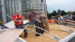 Man trapped in grain trailer rescue