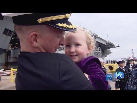 USS George Washington returns to Naval Station Norfolk