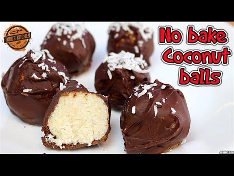 No bake Chocolate Coconut Balls - Easy vegan dessert recipe