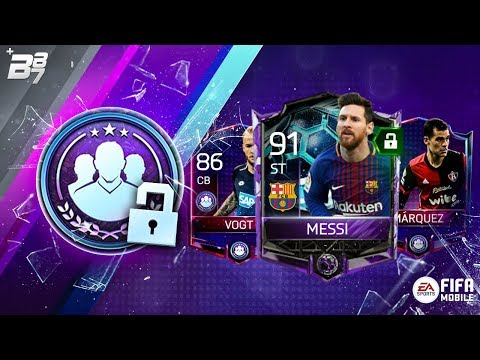 UNLOCKING LLR MESSI 91! 82 MARQUEZ AND 86 VOGT! WEEKLY SQUAD BUILDING CHALLENGES | FIFA MOBILE