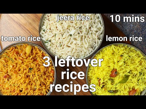 3 best leftover rice recipes | 3 rice recipes with leftover rice| easy pulao with leftover rice