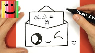 Comment Dessiner Une Lettre Pour Le Pere Noel Kawaii Tuto Dessin Youtube