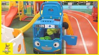 Tayo bus Slide Little Bus Indoor Playground ♡ Turning Mecard w toysurs episode | MariAndKids Toys