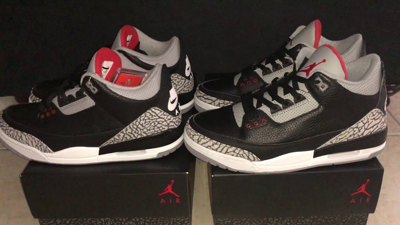 fake jordan 3 black cement