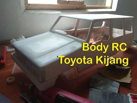 How to make rc car ( DIY ) | body rc toyota kijang pvc foam board part1