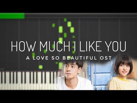 A Love So Beautiful   How Much I Like You 我多喜欢你,你会知道 Wang Jun Qi   Piano Tutorial