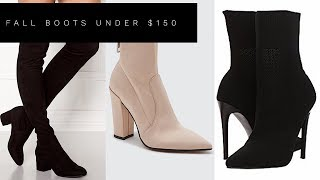 TOP 3 FAVORITE FALL BOOTS UNDER $150 | Lina Noory