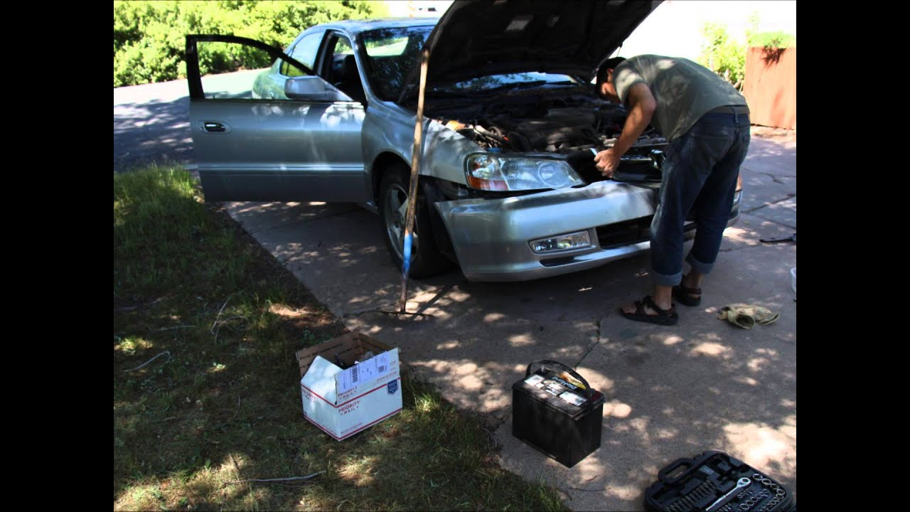 Headlight Ballast Igniter And Bulb Replacement Youtube 2002 Acura Tl