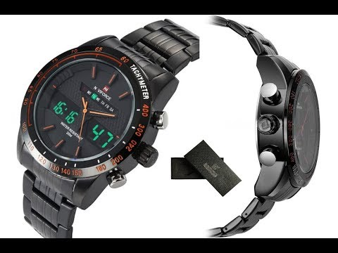7a4adae9f6c Relógio Masculino Naviforce 9024 preto- black - YouTube