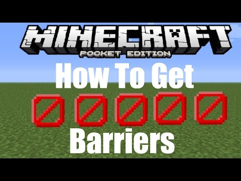 how to get barrier blocks in minecraft pe no mods