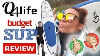 24425774b SUP board review - Q4LIFE isup - budget Lidl   Action   Aldi   Amazon ...