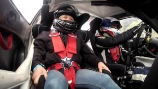 ola nilssons mom takes a ride along with him in his porsche carrera cup car onboard footage