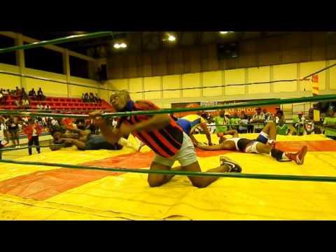 Mister Trovoada Campeão de Luta livre Cathe em Angola