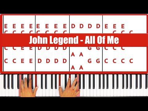 ♫ ORIGINAL+VOCAL - How To Play All Of Me John Legend Piano T