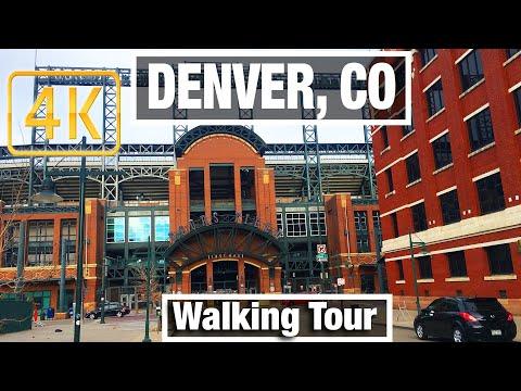 4K City Walks: Denver, Colorado LoDo City Tour - Virtual Walk Beginner Treadmill City Guide Video