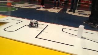 OBR - Fase regional - Guarapuava - Equipe HU3 - robô Gear Tech - 1° Lugar