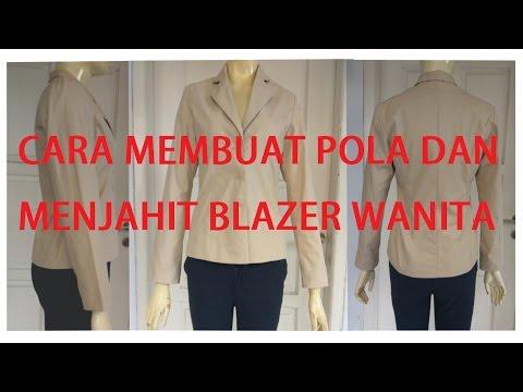 Cara membuat pola dan menjahit baju blazer wanita dewasa