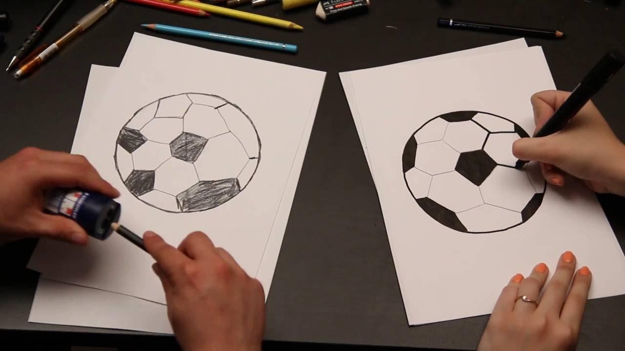 איך מציירים? : כדור כדורגל
