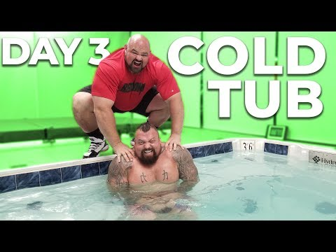 DAY 3   WORLD'S STRONGEST MEN VS COLD TUB