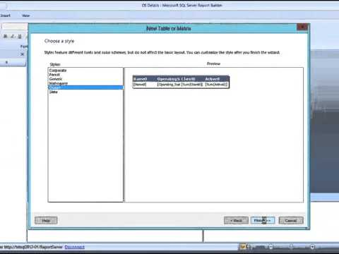 Configuration Manager 2012 - Creating Table Reports using SQL Report Builder