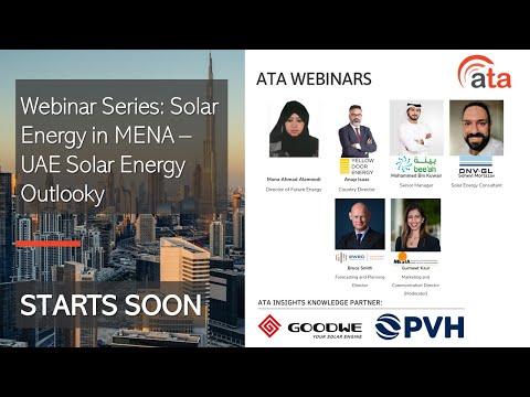 Webinar Series: Solar Energy in MENA - UAE Solar Energy Outl