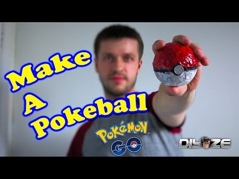 How to make a Pokeball (Out of newspaper)