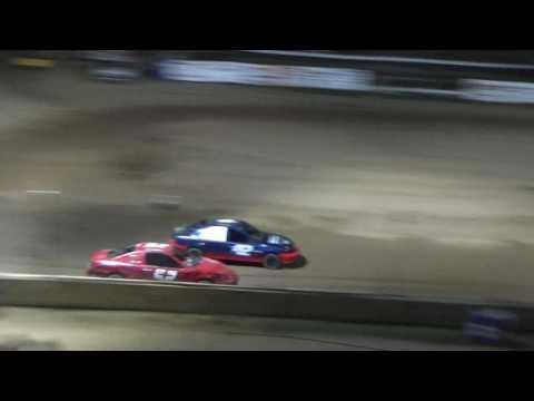 Flinn Stock Heat Race #2 on 09-05-16 at Crystal Motor Speedway, Michigan.
