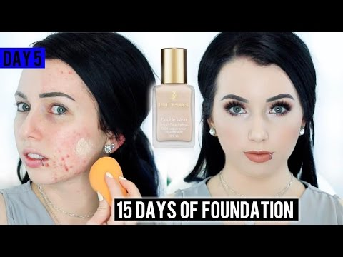 ESTEE LAUDER DOUBLE WEAR Foundation 1C0 {First Impression Review & Demo!} 15 DAYS OF FOUNDATION